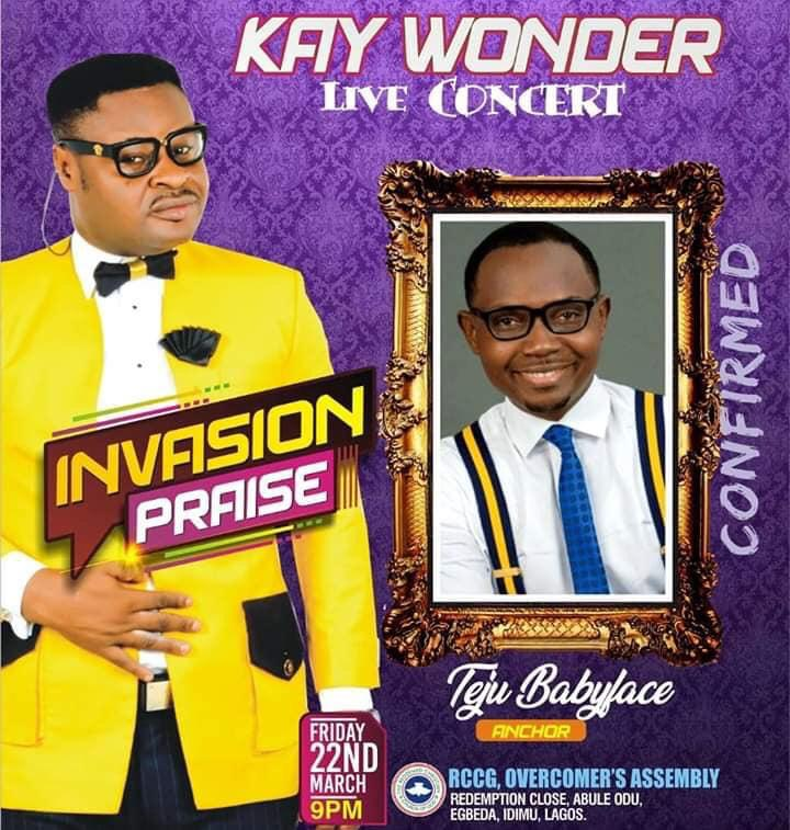 Kay Wonder Live Concert 2019 Anchor by Teju Baby Face